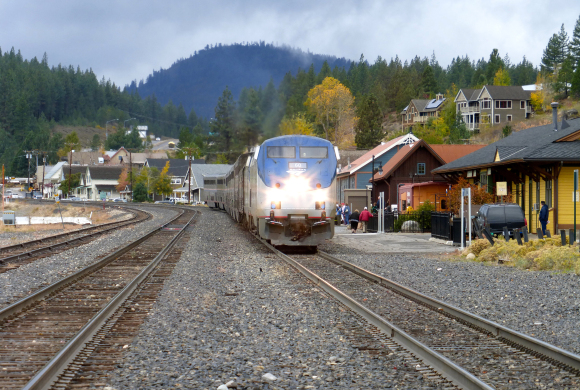 Eco train travel to Truckee