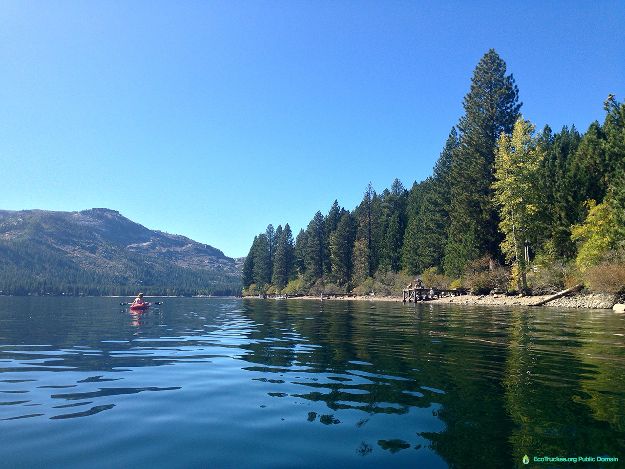Donner Lake Summer Kayaking on Donner Lake