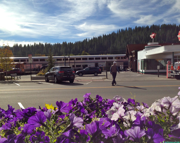 Amtrak Train in Truckee, CA, Oct. 13, 2014