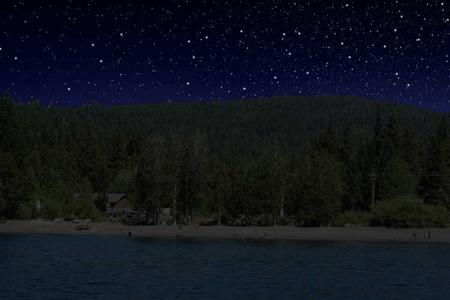 Lake Tahoe Skyline at Night
