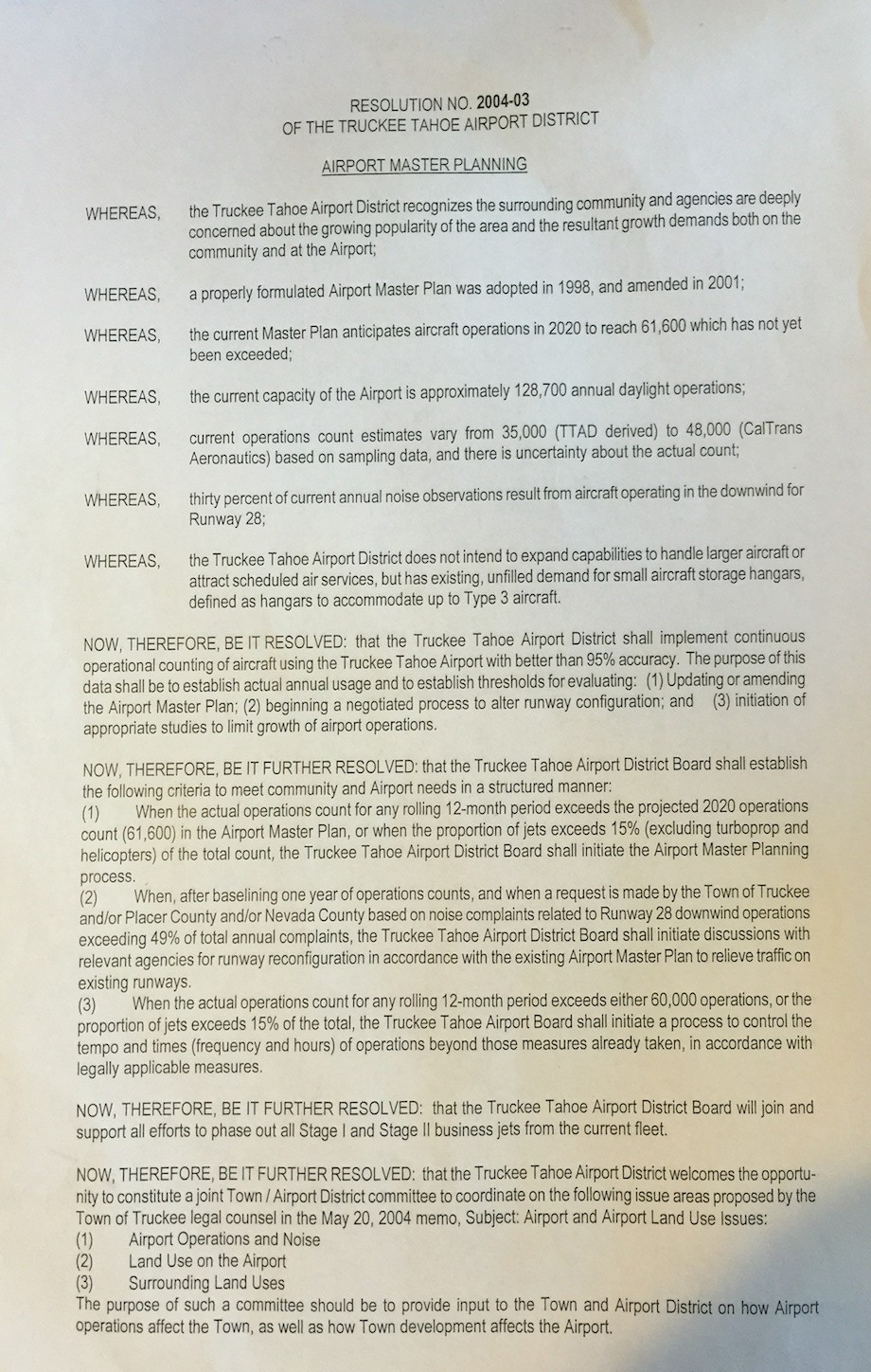 2004 Truckee Airport Resolution P 1