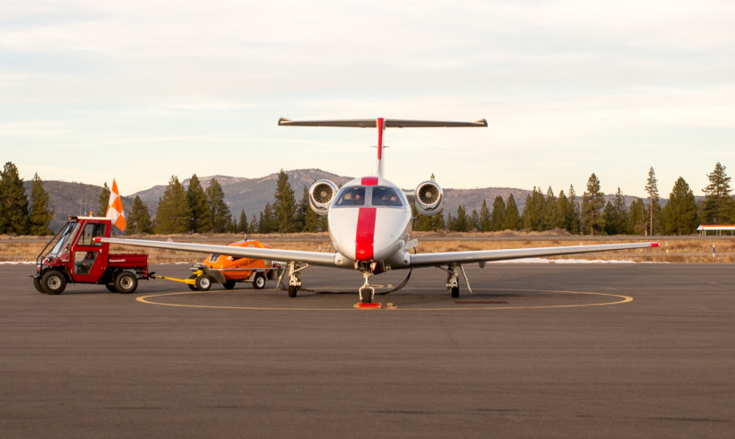 Jet Suite Plane at Truckee Airport