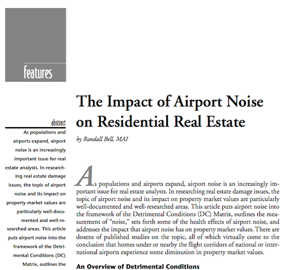 Impact of Airport Noise on Real Estate