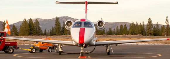 Jet Suite Jet Parked at Truckee Airport580