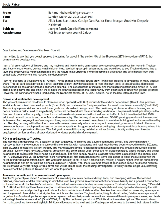 Truckee councilman goodwin defends pro development vote eco liz sheppard letter spiritdancerdesigns Gallery