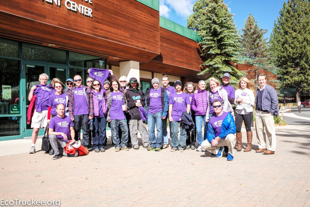 """Keep Squaw True"" Supporters in North Lake Tahoe, October 20, 2015"